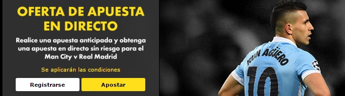 apuesta gratis bet365 Manchester City Real Madrid