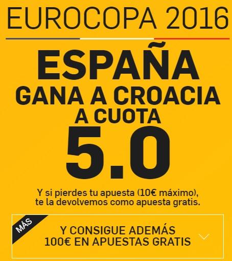 apuestas eurocopa España - Croacia