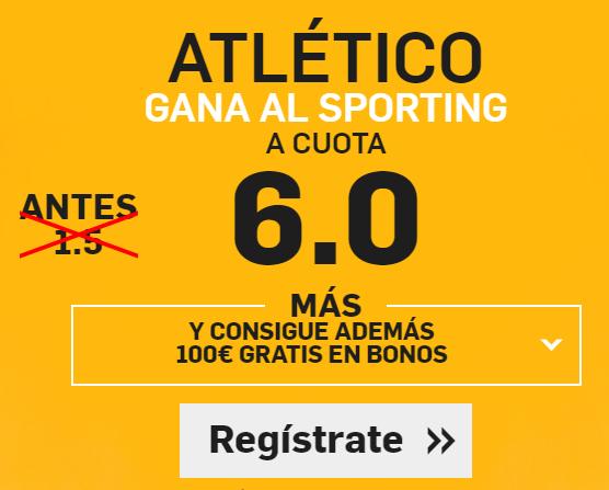 Supercuota Betfair Atletico sporting cuota 6