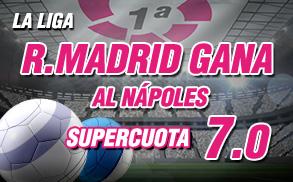 Real Madrid gana Napoles Champions Wanabet