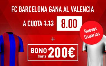 Supercuota Sportium Barcelona Valencia