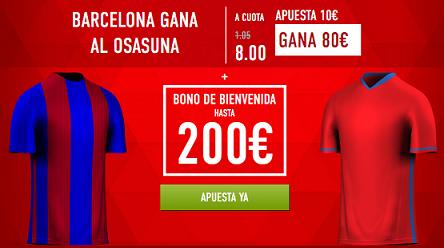 Supercuota Sportium Barcelona gana Osasuna