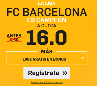 Supercuota Betfair Barcelona Campeon
