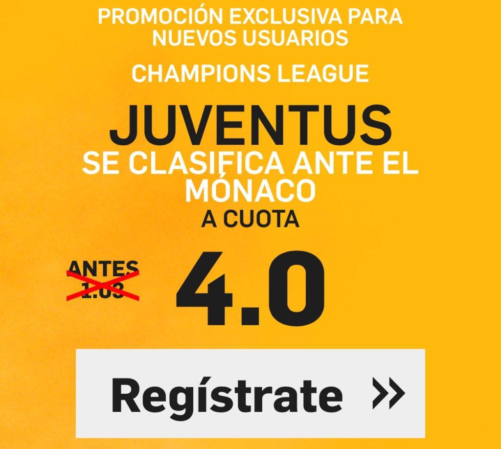 Supercuota Betfair Juventus Monaco