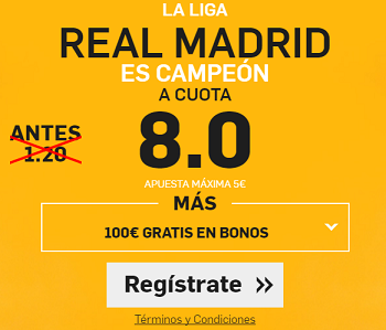 Supercuota Betfair Real Madrid Campeon
