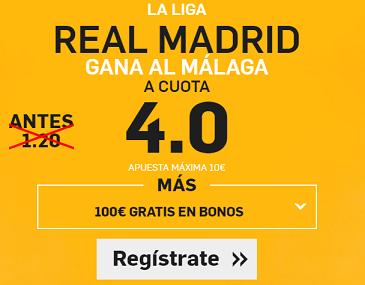 Supercuota Betfair Real Madrid Malaga