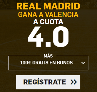 Supercuota Betfair Real Madrid Valencia