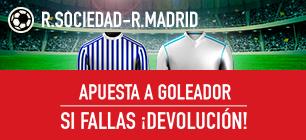 Sportium la Liga R Sociedad - Real Madrid apuesta a goleador