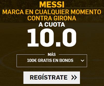 Supercuota Betfair - Messi marca en cualquier momento contra girona