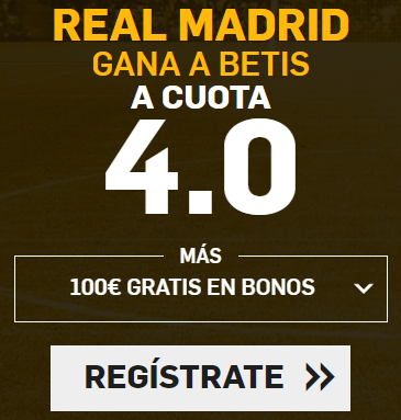 Supercuota Betfair Real Madrid gana a Betis