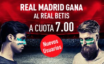 Supercuota Sportium la Liga - Real Madrid gana al Betis a cuota 7.00