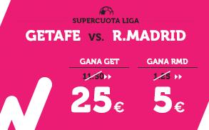 Supercuota Wanabet la Liga - Getafe vs R. Madrid