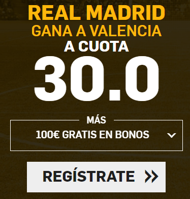 Supercuota Betfair la Liga Real Madrid - Valencia