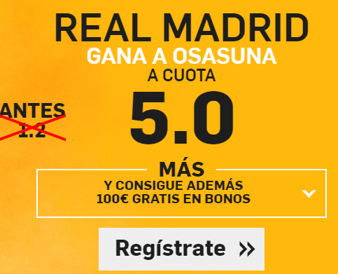 Supercuota Betfair Madrid osasuna