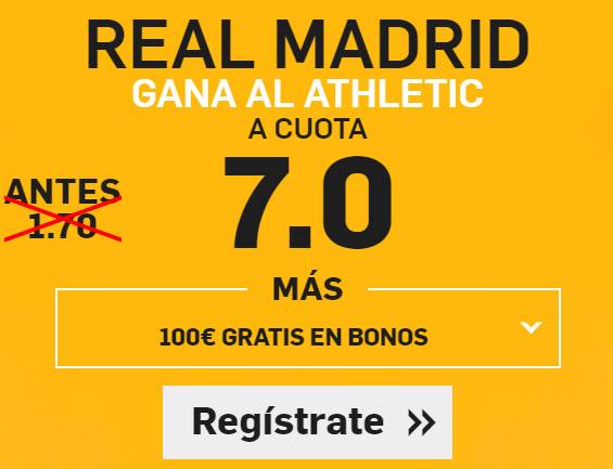 Supercuota Betfair RMadrid Athletic
