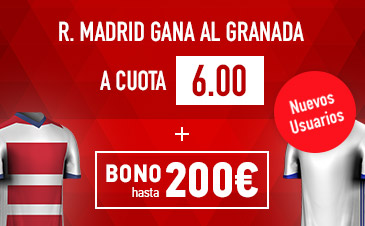 Supercuota la Liga Real Madrid gana Granada