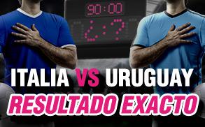 Wanabet resultado exacto Italia vs Uruguay