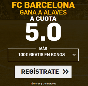 Supercuota Betfair Barcelona Alaves
