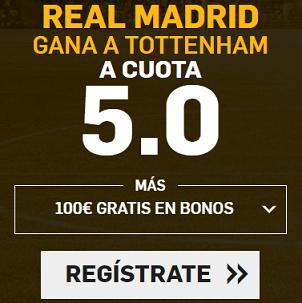 Supercuota Betfair Champions Real Madrid Tottenham
