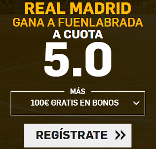 Supercuota Betfair Copa del Rey Real Madrid Fuenlabrada