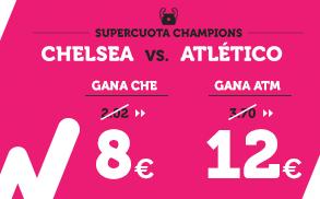 Supercuota Wanabet Champions Chelsea vs Atletico