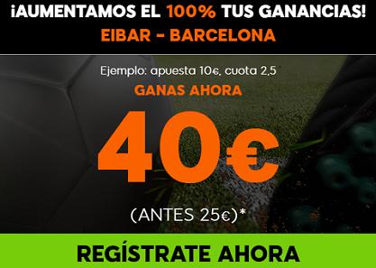 Supercuota 888sport la Liga Eibar - Barcelona