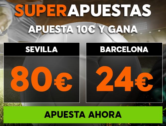 Apuestas Legales, Supercuota 888sport la Liga Sevilla - Barcelona