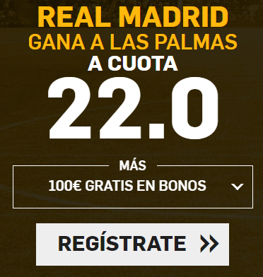 Apuestas Legales Supercuotas Betfair la Liga: Real Madrid - Las Palmas
