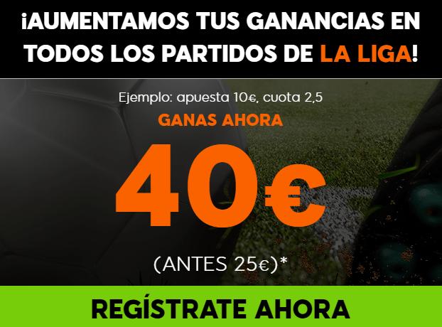 apuestas legales Supercuota 888sport la Liga Jornada 35, 100% aumento de Beneficios