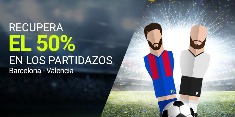 apuestas legales Luckia la Liga Barcelona - Valencia recupera el 50%