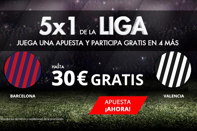 Apuestas Legales Suertia 5x1 la Liga Barcelona - Valencia