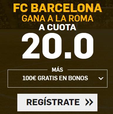 Apuestas Legales, Supercuota Betfair Champions League FC Barcelona - Roma