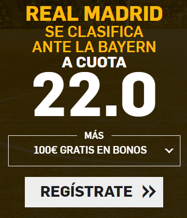 apuestas legales Supercuota Betfair Champions League: Real Madrid vs Bayern