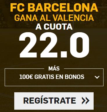 Apuestas Legales Supercuotas Betfair la Liga: FC Barcelona - Valencia
