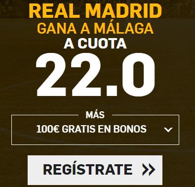 Apuestas legales Supercuota Betfair la Liga Real Madrid - Malaga