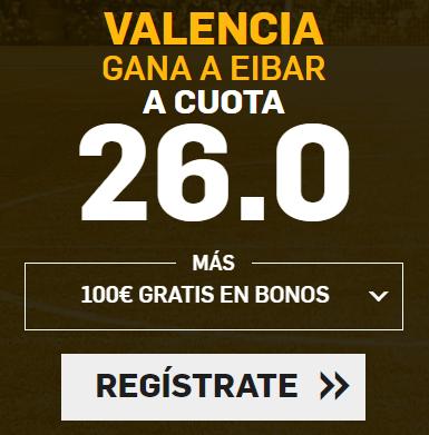 apuestas legales Supercuota Betfair la Liga Valencia - Eibar