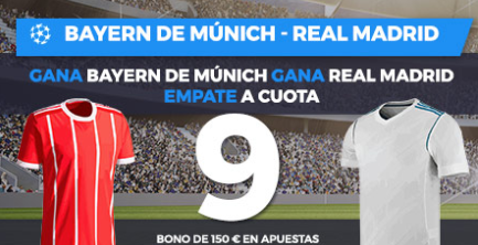 apuestas legales Supercuota Paston Champions League Bayern de Munich - Real Madrid