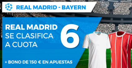 apuestas legales Supercuota Paston Champions League Real Madrid - Bayern