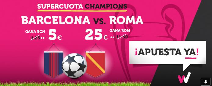 Apuestas Legales Supercuota Wanabet Champions: Juventus cuota 8 vs R. Madrid cuota 7