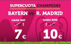 apuestas legales Supercuota Wanabet Champions Bayern vs R. Madrid