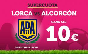 Supercuota Wanabet Segunda División: Alcorcón gana a Lorca a cuota 10€