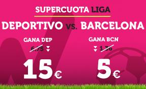 apuestas legales Supercuota Wanabet la Liga Deportivo vs Barcelona