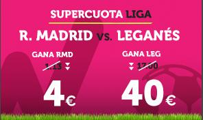 apuestas legales Supercuota Wanabet la Liga R. Madrid vs Leganes