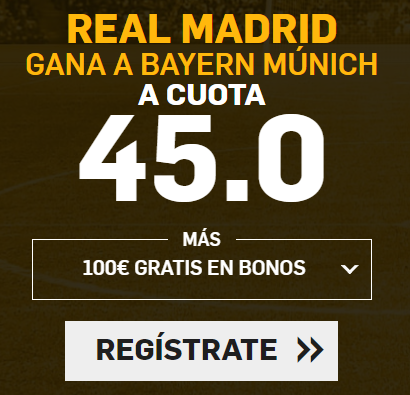 apuestas legales Supercuotas Betfair Champions Real Madrid - Bayern Munich