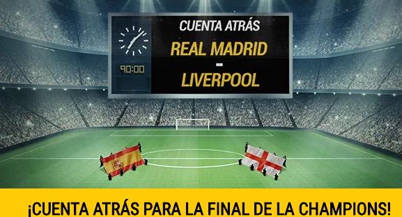 apuestas legales Bwin Cuenta Atras Real Madrid - Liverpool Champions