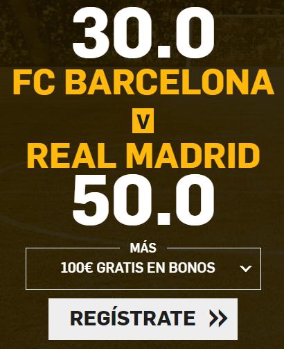 apuestas legales Supercuota Betfair el Clasico FC Barcelona vs Real Madrid