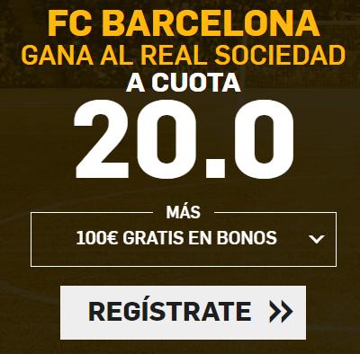 apuestas legales Supercuota Betfair la Liga FC Barcelona - Real Sociedad