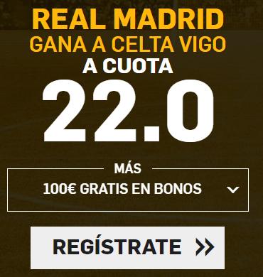 apuestas legales Supercuota Betfair la Liga Real Madrid - Celta Vigo