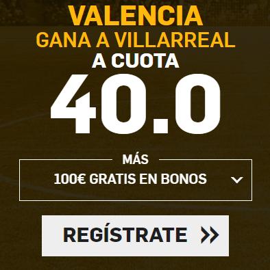 apuestas legales Supercuota Betfair la Liga Valencia - Villarreal