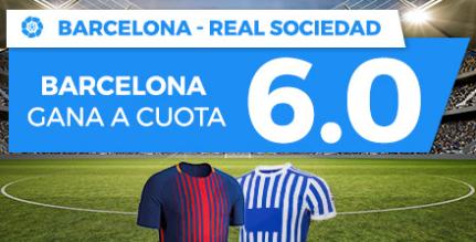 apuestas legales Supercuota Paston la Liga Barcelona - Real Sociedad